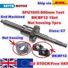 【UK】SFU1605 800mm Ballscrew End Machined +Nut& BK/BF12 Support + Nut housing CNC