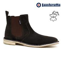 Mens Leather Chelsea Boots New Smart Formal Desert Suede Ankle Boots Shoes Size
