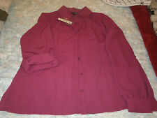 East 5 Th ladies wine colored long sleeve blouse new with tags size large