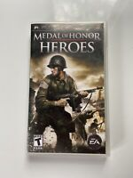 Medal of Honor: Heroes (Sony PSP, 2006) Complete With Manual