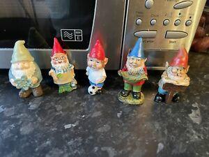 little Garden Gnomes Job Lot Rubber Latex Mould Molds Bundle Of 5 Fairy Garden