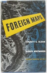 1944 FOREIGN MAPS Olson & Whitmarsh 1st Ed HC DJ Languages Signs Symbols Scales