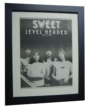 SWEET+Level Headed+TOUR+POSTER+AD+RARE ORIGINAL 1978+FRAMED+EXPRESS GLOBAL SHIP