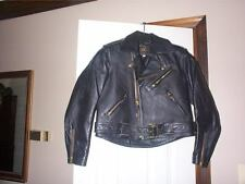 Lost Worlds Black mens / ladies Leather Motorcycle Police style Jacket Sz 30 USA