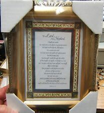 """7"""" x 9"""" Tabletop or Wall Framed Art Print  Psalm 23:1-6 THE LORD IS MY SHEPHERD"""