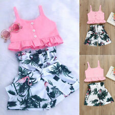 Newborn Infant Toddler Baby Girl Crop Top+Shorts Short Pants Summer Clothes Set