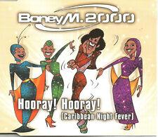 BONEY M Hooray Caribbean Night Fever 2 EXTENDED MIXES & 2 EDITS CD Single SEALED