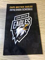 LHJMQ - QMJHL  Pocket Schedule Eagles Cape Breton 2019-20