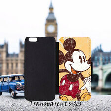 DISNEY Vintage Mickey Leather Flip Wallet Phone Case