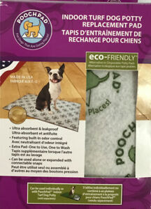"""Pooch Pad Indoor Turf Dog Potty Replacement Pad 16""""X24"""" Use Under Grass/separate"""