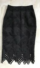 BARGAIN Cute BARDOT Black LACE Skirt Size 8 Great Condition
