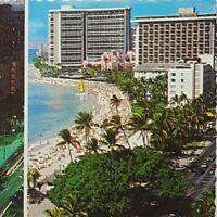Vintage Postcard Waikiki Beach Hawaii 1981