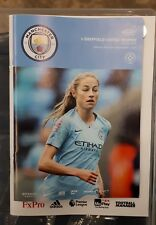 Man City Women v Sheffield United Women Programme  05/12/18 Conti Cup