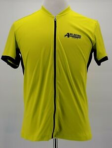 Specialized Neon Green Yellow Mens XL ARLBERG Sports Cycling Jersey Full Zip
