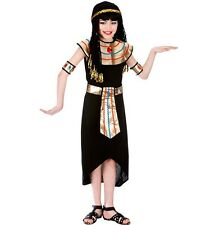 Childrens Fancy Dress Egyptian Queen Costume Childs Girls Cleopatra Outfit Black