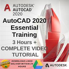 AutoCAD 2020 COMPLETE VIDEO TUTORIAL - AutoCAD 2020 Essential Training 3 Hours +