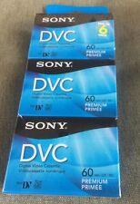 6 Pack SONY DVC Mini Digital Video DV Cassette Tape 60 minutes DVM60PRR NEW