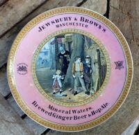 PRATTWARE Advertising Plate JEWSBURY & BROWN'S Manchester GINGER  BEER etc Vgc