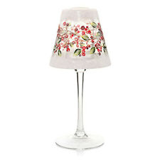 YANKEE CANDLE SNOWBERRY CRACKLE GLASS FROSTED TEA LIGHT CANDLE LAMP NIB RARE