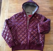 Men's BNWT Burgundy DRUNKNMUNKY quilted and padded fully jersey lined jacket, S