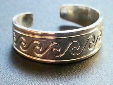 New Toe Ring Greek Wave Style Strong Silver Plated 16mm Adjust Boho Ethnic Girls