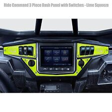Billet  Aluminum Dash Panel Kit Includes Switches Lime Squeeze Powdercoated UTV