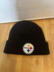 NFL Pittsburgh Steelers Black Kids Cuff Beanie Knit Hat (New, No Tags)
