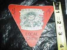 BON JOVI New Jersey JOKER W/ Gun hahaha Backstage Local Crew PASS Vintage Used