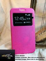 Hülle Deckel Buch (TPU case) Huawei ENJOY 7 - Rosa / Rosa