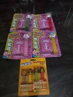 Vintage Pez Candy Dispensers Lot of Yummy Bubbles + Party Favors Bugz SEALED