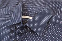 NWT ETRO Shirt Size 41 Made in Italy Blue Navy Dress Casual New
