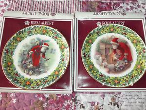 Royal Albert plates Christmas 2  and 1 Royal Daulton  Snowman Plate new in boxes