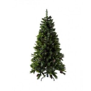 Glisten 6ft Christmas Tree With Pine Cones & Snow Tips
