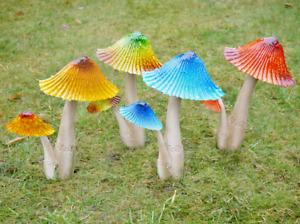 Toadstool Garden Ornament Outdoor Sculpture Statue Figurine Mushroom Fairy Décor