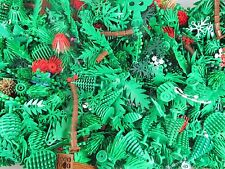 ☀️NEW! (X100) Lego Greenery Plant Pieces - trees, shurbs, bushes, leaves random