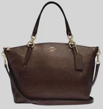 New Coach 29867 small Kelsey Pebble Leather Satchel handbag Bronze