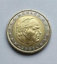Monaco 2001 : pièce de 2 euro issue du starterkit