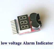 1-8s Spannung Lipo Akku Alarm Checker Anzeiger Tester