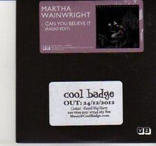 (DI698) Martha Wainwright, Can You Believe It - 2012 DJ CD