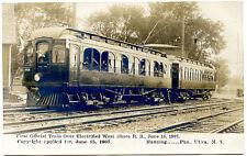 RPPC NY West Shore Railroad 1st Car Locomotive Railroad Utica (Manning) Oneida C