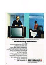 PUBLICITE  1969   RIBET DESJARDINS  téléviseur