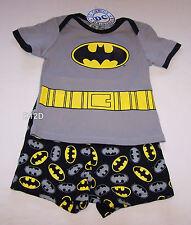 Batman Boys Grey Black Printed Cotton Pyjama Set Size 0 New