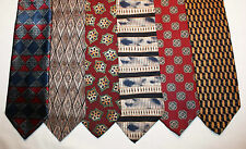 NEW Lot of 6 Designer Neck Ties with Patterns, Geoffrey Beene and more L007