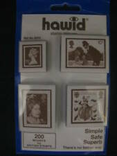 HAWID 200 MOUNTS FOR BRITISH STAMPS 4 PACK - BLACK - SUPPLIES