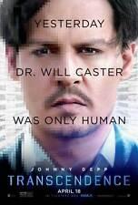 Transcendence DOUBLE SIDED Johnny Depp ORIGINAL MOVIE POSTER Christopher Nolan B