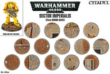 Citadel - Sector Imperialis 32mm Round Bases - Brand New! - 66-91