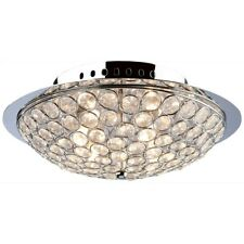Artcraft Gage Park 4 Light Flush Mount, Chrome - AC10101