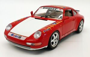 Burago 1/18 Scale Diecast 3050 Porsche 911 Carrera 1993 Red Racing Model Car