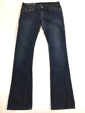 "HURLEY Women's Jr Jeans 28""x 33"" '69 Skinny Boot' Stretch Flare Blue Denim Surf"
