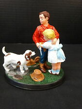 Norman Rockwell Gallery Figurine ~ Age of Wonder ~ Stand By Me ~ Nib ~ 82243